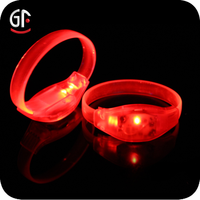 2016 Free Samples Factory Price Silicone Sound Activated LED Bracelet/LED Bracelet