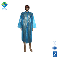 Waterproof disposable plastic folding raincoat