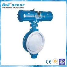 Pneumatic stainless steel butterfly check valve
