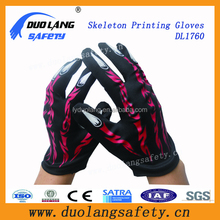logo printed magic gloves microfiber gloves