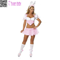 Sexy hot White/Pink Lingerie Role Play Easter Sweet Bunny Costume L15508