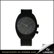 brand design Support ODM OEM black alloy case silicone strap men classic watch men movement quartz wrist hand watches
