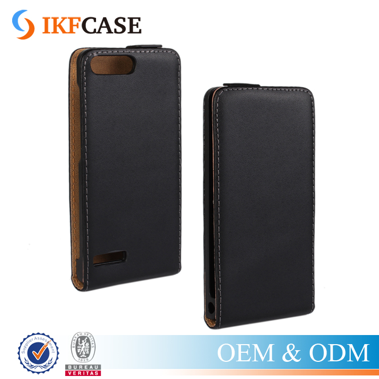 Wholesale Vertical Flip Leather Cell Phone Case Cover for Huawei P7 Mini