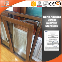 Solid Teak Wood Thermal Break Aluminum French Casement Window(CWML02)