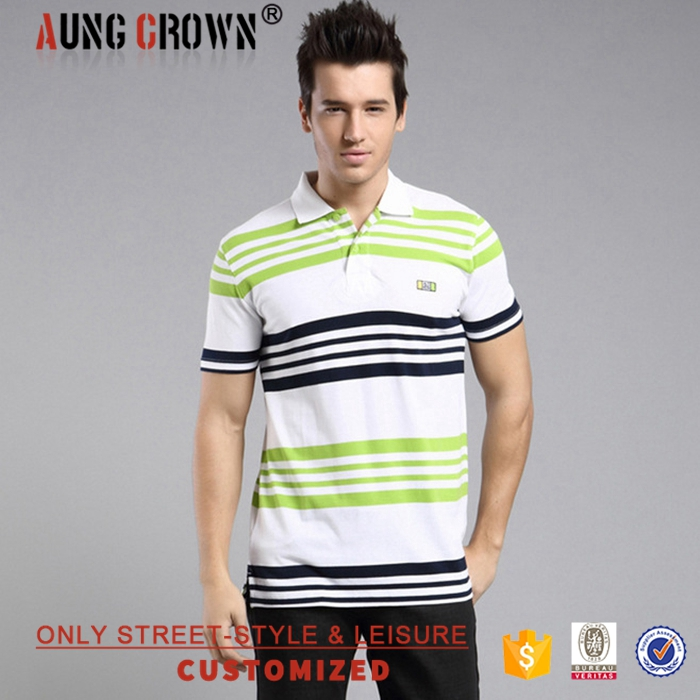 Fashion Slim Fit 100% Cotton Polo Shirt Golf Custom Own Design For Men