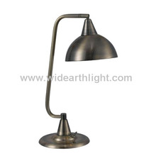UL CUL Listed Antique Brass Hotel Metal Table Lamp With Base Switch T80292