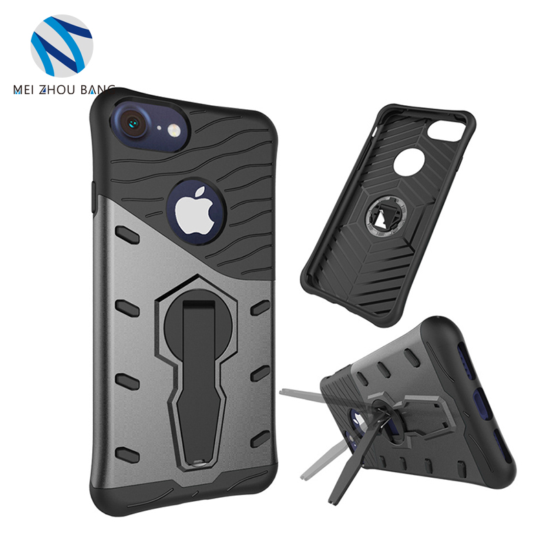 360 Degree Sniper Hybrid Shockproof Case For Apple iPhone 8 plus 7 plus PC+TPU Stand Cover