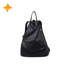 Trendy functional leisure genuine leather men's backpack bag