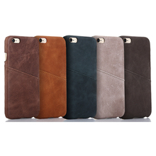 4.7 Inch Genuine Leather Case for iPhone 6 7 8 Plus Leather Back Cover with Card Holder