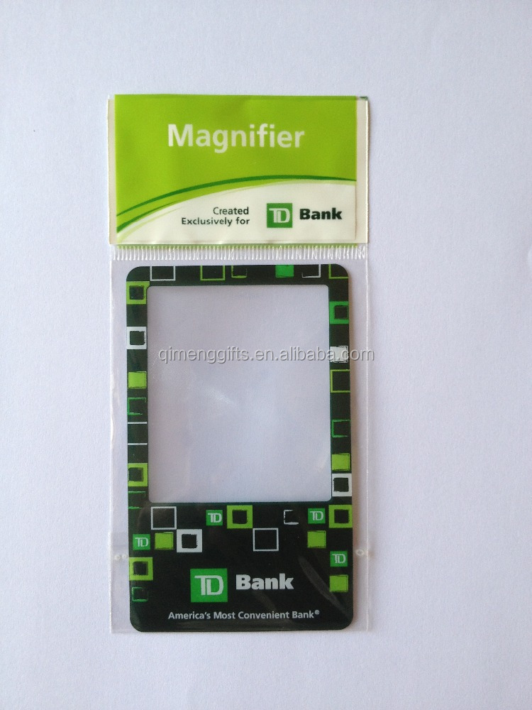 Flat Thin Gift Credit Card 3x Magnifying Glass