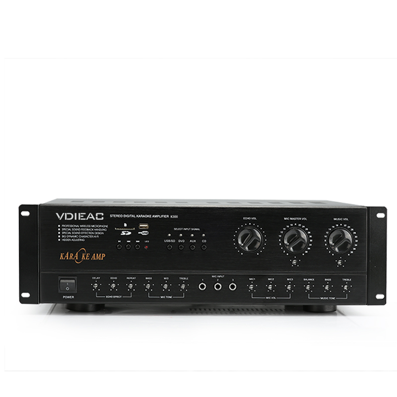 K-500 Home stereo digital karaoke mixer amplifier