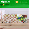 Europe fashion PU leather printing long wallet large capacity zipper exquisite hand bag