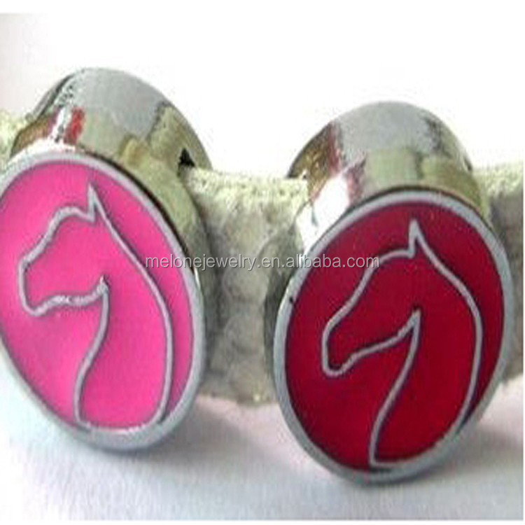 Colorful Enamel Horse Slide Charms Fit to 8mm Wristbands Beads Wholesale