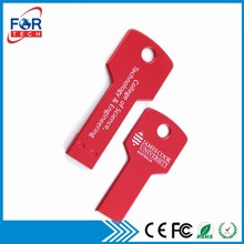 Shenzhen New Small Data Metal Key USB Flash Memory 128mb 256mb 512mb with Unerasable Files On The Drives for Promotion