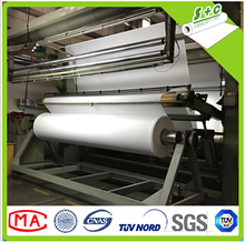 Dye sublimation woven 3P backlit fabric for UV,latex, direct printing machine