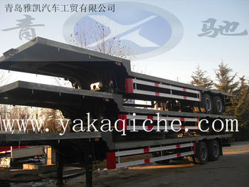 flat bed trailer, cargo box trailer