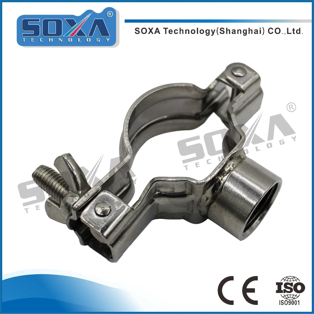 Sanitary Stainless Steel Holder Pipe Rack Vacuum Clamp 13KF