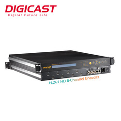 TV HD 1080P Digital TV Solutions Catv Headend Equipment Video/Audio To RF 8 in 1 Encoder UDP/IP