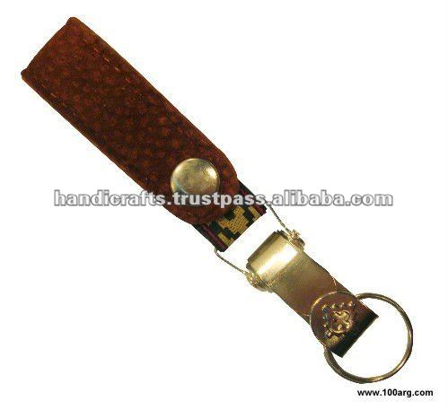 KEY HOLDER IN CAPYBARA LEATHER WITH 'PAMPA' BAND