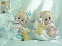 resin baby figures,mini baby statue,poly figurines