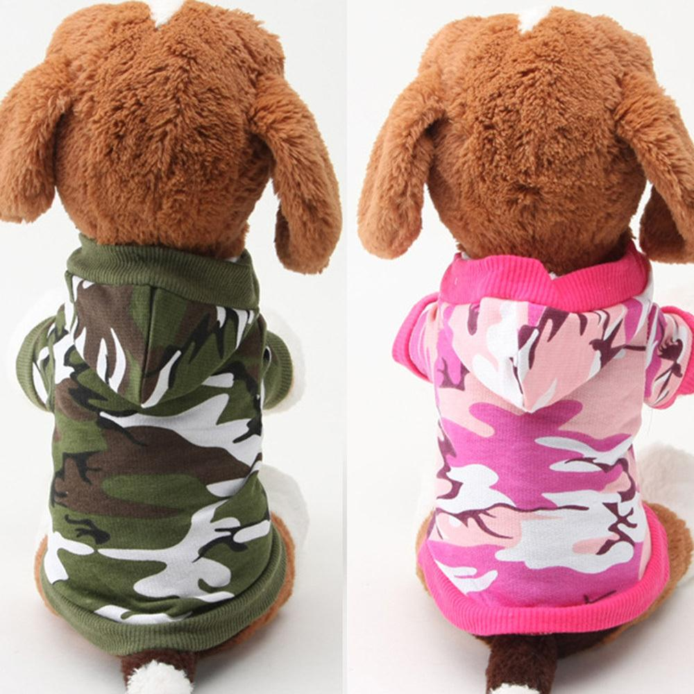 Casual Pet Small Dog Puppy Green/Pink Camo Clothes Hoody Camouflage T-shirt XS-LWX