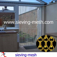 Metal Hanging Chain Fly Screens, Decoration Chain Mesh Metal Curtains