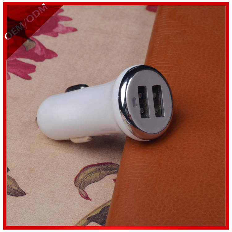 2017 hot sale mobile phone dual USB car charger with wholesale price