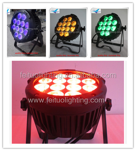 Fast Shipping Black LED Waterproof Par Can 64 LED Par Outdoor Use RGBWA UV 12x18W 6IN1 for Party DJ Club KTV