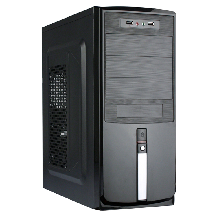 CHINA OEM Factory direct sale cheap price ATX style Computer case with 12cm LED crystal fan
