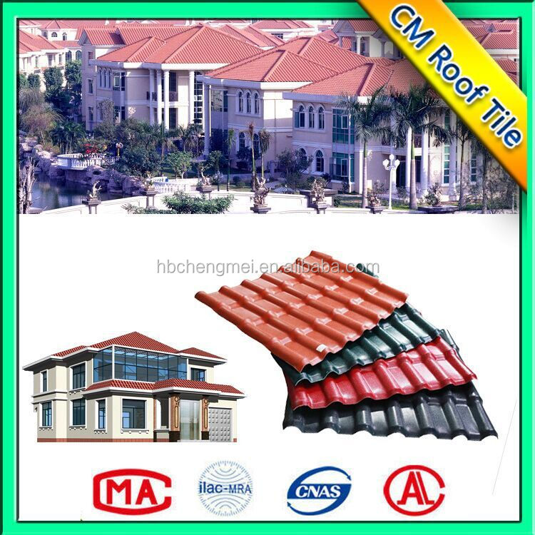 Spanish Royal-1050 anti-corrosion color fast synthetic resin roof tile