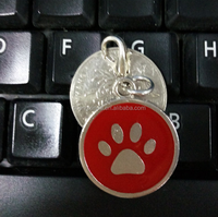 Dog Paw Style Metal Dog Name Tag Dogs Cats Pets