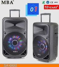 Factory Best Price Audio Stage Active Trolley Speaker With USB/SD/FM/Bluetooth/Remote control
