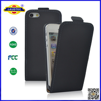 China Manufacturer Cheap STOCK Leather Flip Cover For IPhone 4