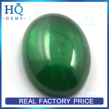 Hot sell oval cut green cubic zircon stones cabochon cz