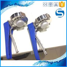sanitary 304l polished butterfly valves handles