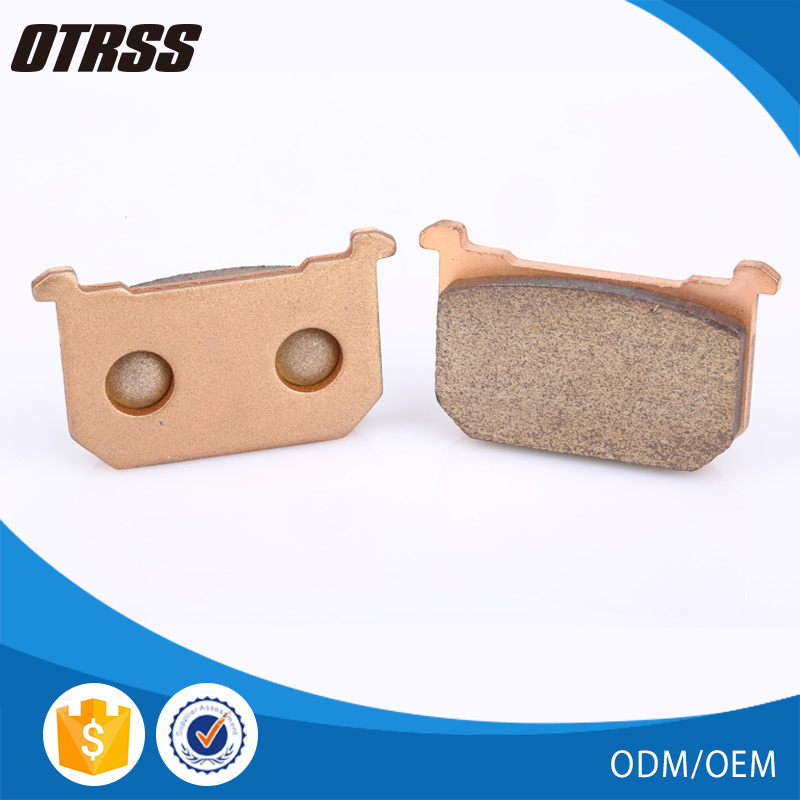 Stable friction properties long lifetime disc motorcycle brake pads