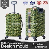 HLW Wholesale custom vintage trolley luggage bag