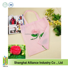 190 Denier Rose Shape Nylon Pouch Promo Foldable Bag