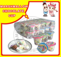 Chocolate Coated Marshmallow Candy White In One Cup