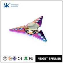 Sanke 2017 rainbow Metal Tri Hand Spinner Fidget Toy EDC Fidget Spinner with Ultra Fast Bearings Great Gift for killing Time