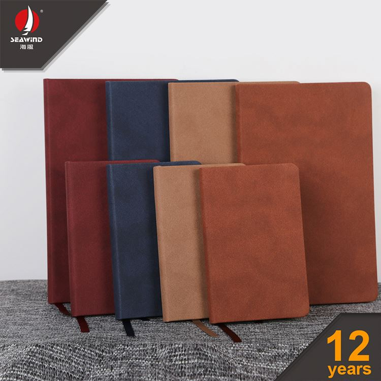 hard cover color pu elastic personalized leather agenda notebook