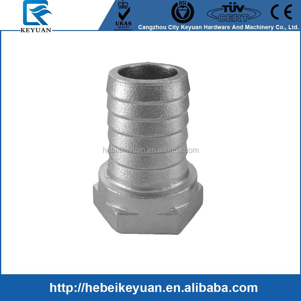 "3/4"" Female Hose Barb Adapter 3/4"" Female NPT x 3/4"" Hose Barb Stainless Steel 316"