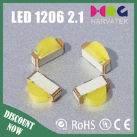 super bright 3.0x1.0x2.1mm 25mA 5000-6500K flashing 1206 smd led
