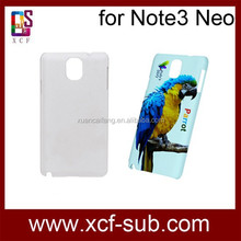 for Samsung Galaxy Note 3 Neo 3D Sublimation cover ,sublimation blank phone case covers for Note 3 Neo ,7 years manufacture