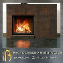 custom ourdoor design corten steel fireplaces