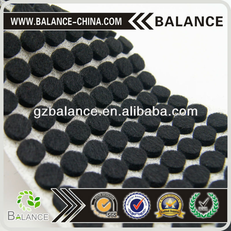 self adhesive felt pads/black adhesive felt pads/felt pads for furniture legs