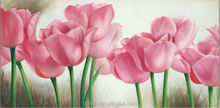 YJ(7187) China painting wholesale pink flower print canvas modern flower wall art