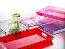 Fun Customized Your-Shape/design Clear Acrylic Serving Trays With Handmade
