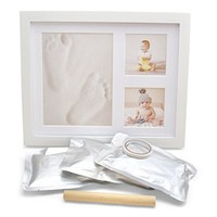 2019Hot Product Baby wooden Footprint and Handprint Souvenir photo frame home decor
