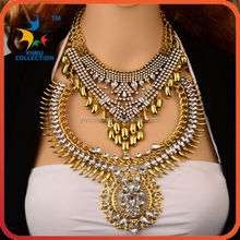 Yiwu Collection 3PCS MOQ coin artificial gold long chain imitation necklace gold necklace designs in 10g